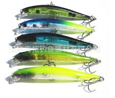 90mm 7.5g Top Water Fishing Lures Crankbait Crank Bait Bass Tackle Treble Hoo