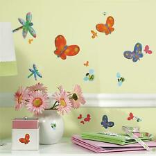ROOM MATES PEEL & STICK WALL DECALS JELLY BUGS 58 STICKERS DECOR BUTTERFLY BEE
