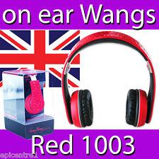 FANNY WANG 1003 SERIES ON EAR HEADPHONES RED WANG EARPHONES MUSIC HI FI