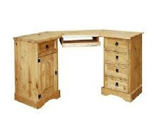Corona Mexican Pine Corner Computer Desk Rustic   Office Dressing Table Solid