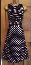 WALLIS❤️ Beautiful Vintage Style 50's Size 16 P Blue Polka Dot Dress Rockabilly