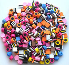 NEW!!! 100 MEDIUM MIXED FIMO BERTIE BASSETT -  LIQUORICE ALLSORTS BEADS