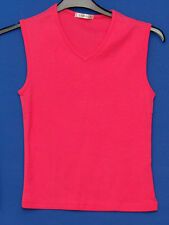 ~GEORGE~PINK V NECK SLEEVELESS TOP~SIZE 10~