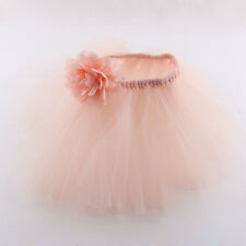Baby Newborn Headband Tutu Skirt Matching Hairband Photography Prop Baby pink