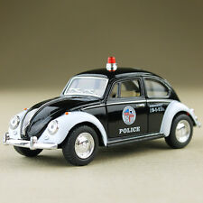 1967 Classic VW Volkswagen Beetle Police Car Black White 1:32 Scale Die-Cast