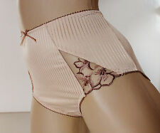 Pretty Ladies Biscuit Beige Midi style Panties Full Bum Knickers UK 18 XXL
