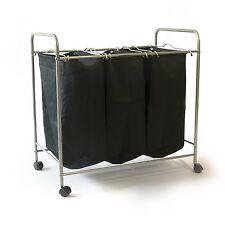 Wäschesammler Wäschewagen Wäschekorb Wäschesortierer Wäschebox auf Rollen