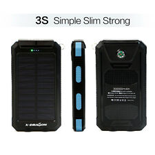 300000mAh Portable Solar 2USB External Battery Power Bank Pack Charger Phone AU