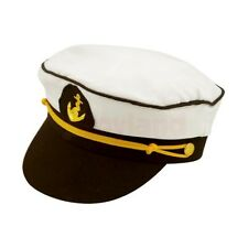 SAILOR CAPTAIN SEA MARINE FANCY DRESS PARTY STAG HEN DO HAT CAP COSPLAY OFFICER