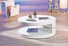 Couchtisch weiß hochglanz Wohnzimmertisch Wohnzimmer Tisch Design modern 80x80
