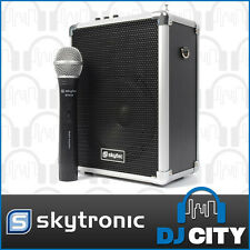 ST-030 SKYTEC 50W PORTABLE PA SYSTEM 50m RANGE with wireless mic Mp3 usb medi...