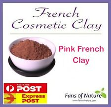 French Pink Superfine Cosmetic Clay Powder: Face Hair Mask, Body Wrap, Spa
