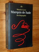 Maurice Lever: Marquis de Sade - Die Biographie (1998, dtv Taschenbuch)