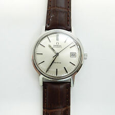 Rise-on OMEGA Automatic Geneve MENS Watch Silver Dial #33a