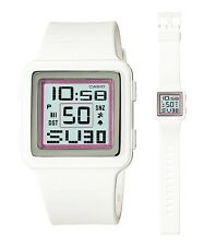 LDF-20-7A White Digital Lady Casio Watches Resin Band Brand-New Box Packy New