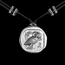ATHENA'S OWL Oberon Design PEWTER NECKLACE jewelry pendant handcrafted PNN46