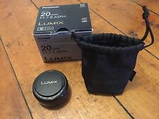 Panasonic Lumix 20mm f/1.7 Aspherical Lens Panake Lens, Micro 4 Thirds H-H020