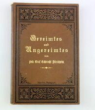 Ferdinand Graf Eckbrecht Dürckheim ALLERLEI GEREIMTES UND UNGEREIMTES, EA 1890