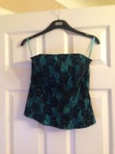 Topshop Black/mint Lace Bustier. Excellent Condition