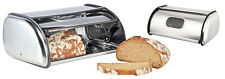 Edelstahl Brotkistemit Sichtfenster und Belüftungslöchern Brotkasten Brotbox OVP