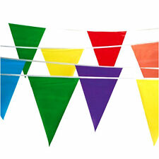 10m Multicoloured Triangle With 20 Flag Pennant Party Bunting Decoration