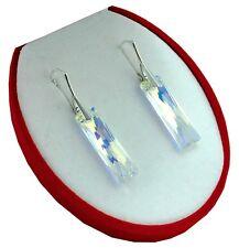 NEU *Baguette* Crystal AB - Ohrringe mit Swarovski Elements Silber 925 Geschenk