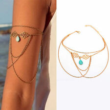 Turquoise Arm Slave Tassels Chain Upper Cuff Armband Armlet Bracelet Band HOT