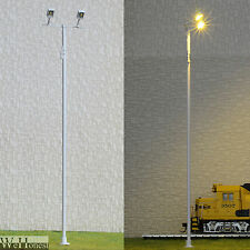 2 x O gauge Plaza Lamp post Model led street light floodlight Square Lamp #012