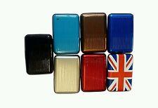24x Aluminium Metal Wallet ID Credit Business Card Purse Case Pocket Holder UK