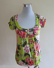 New Womens Green Pink NEXT Top Size 6
