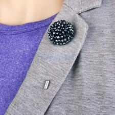 Navy blue Flower Stick Brooch Broach Pin Crystal Jewelry For Women Wedding