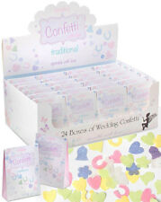 24 BOXES TRADITIONAL LIGHT & DELICATE WEDDING CONFETTI PAPER SHAPES DISPLAY BOX