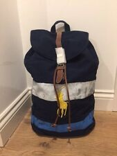 Polo Ralph Lauren Multicoloured Canvas Backpack Rucksack  RRP £170
