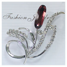 Ladies Feather Brooch Rhinestone Brooches for Women Broches Jewelry Fashion Pins