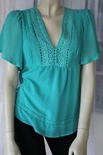 Wish Emerald Blouse Top Shipping 1-4 Items=$10, 5 or more=FREE! #072