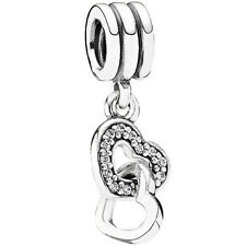 Original PANDORA Element 791242 CZ Herzen Silber Beads
