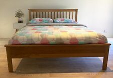 Solid Oak Wooden Queen Bed