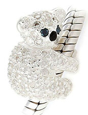 Koala Bear Charm Bead - Sterling Silver - I Love You Mum Wife Chrismas Gift