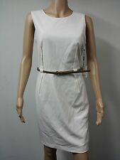 NWT FAST to AUS - Calvin Klein Petite Sleeveless Dress - Size 14P - Cream $89.98
