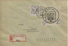 Lokal Bad Nauheim 4 II  mit PF III mit ZF auf R-Brief nach Steinfurth (B04548)