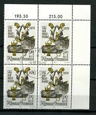 Austria 1970 SG#1600 Stamp Day Cto Used Block #A57828