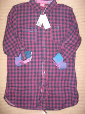 NEW WOMENS CLOTHES ANIMAL LONG SLEEVE / ROLL BACK CHECK SHIRT LONG UK SIZE 12