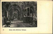 Vatikanstadt Vaticanæ Vaticana ~1900 Salone della Biblioteca Bücherei Vatikan AK