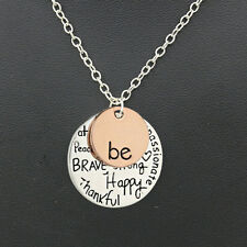 Fashion Women Gold Pendant Silver Plated Long Chain Statement Alphabet Necklace