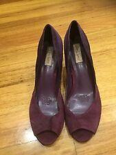 Diana Ferrari Size 9 Purple suede Leather Shoes as new Good Condition