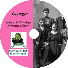 GEORGIA - History & Genealogy -96 old Books on DVD - Ancestors, County, CD, GA