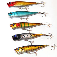 5X115mm Popper Poppers Topwater Fishing Lures Surface GT Game Tackle Saltwater