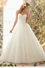 MORI LEE STUNNING TULLE BALL GOWN WEDDING DRESS STYLE 6775 UK16 IVORY RRP£1299