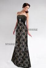 MAKE A STATEMENT! GOLD-BEADED BLACK LACE FORMAL/EVENING/PROM/BALL GOWN AU22/US20