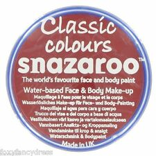 PROFESSIONAL 18 ml CLASSIC RED DEVIL,CLOWN SNAZAROO FACE & BODY PAINT MAKE UP